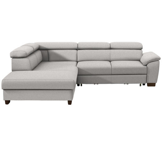 WOHNLANDSCHAFT in Textil Beige - Wengefarben/Beige, MODERN, Holz/Textil (229/263cm) - Hom`in