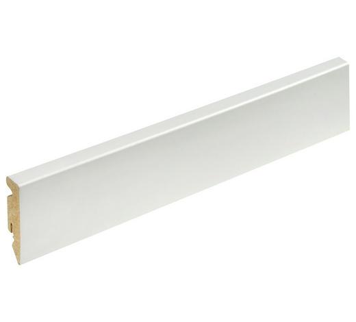LIŠTA SOKLOVÁ  (za kus) - bílá, Konvenční, kompozitní dřevo (1,5/5,8/240cm)