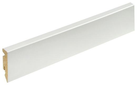 SOCKELLEISTE Weiß - Weiß, Basics, Holzwerkstoff (1,5/5,8/240cm) - Homeware