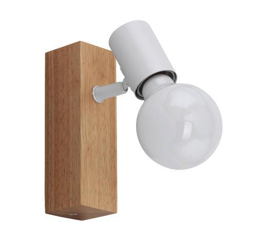 STRAHLER - Eichefarben/Weiß, Design, Holz/Metall (5/16,5cm)