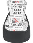 SEDACÍ PYTEL, černá, bílá - bílá/černá, Design, textil (85/100/85cm) - Boxxx