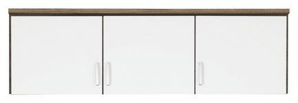 AUFSATZSCHRANK in Weiß, Eichefarben  - Eichefarben/Silberfarben, Basics, Holzwerkstoff/Kunststoff (136/39/54cm) - Carryhome