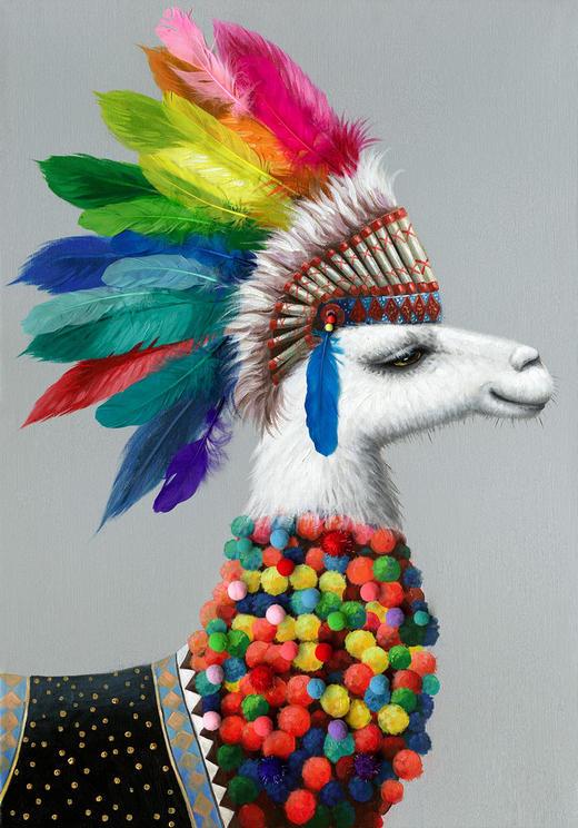 Ölgemälde - Multicolor, Basics, Holz/Textil (70/100cm) - Monee