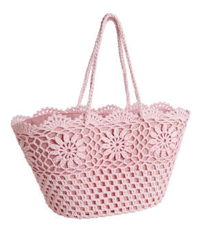 INKÖPSVÄSKA - pink/rosa, Trend, textil (45/33/30cm) - Ambia Home