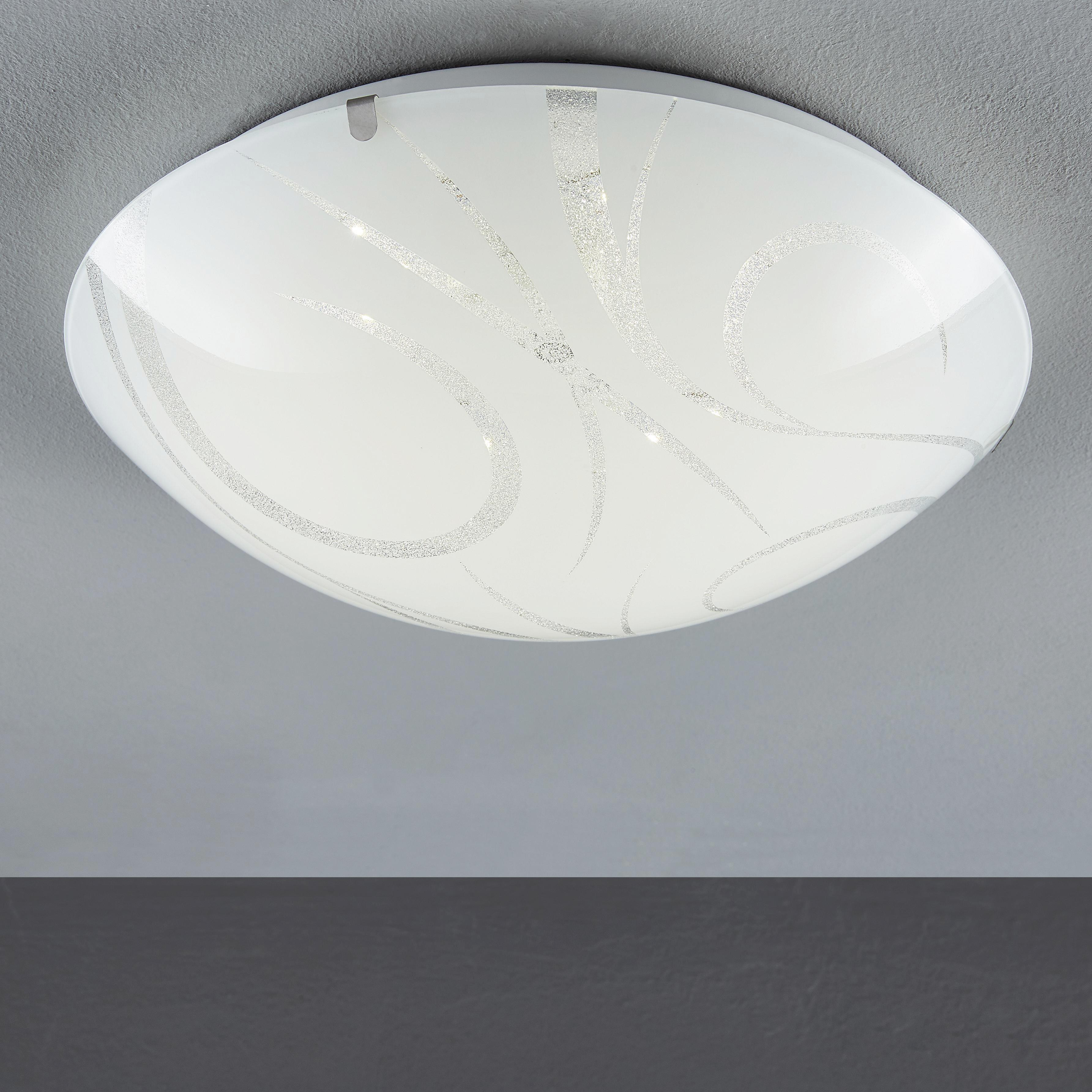 LED STROPNÍ SVÍTIDLO - bílá, Basics, sklo (30cm) - BOXXX