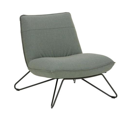 SESSEL Grau    - Grau, Design, Textil/Metall (75/79/92cm) - Rolf Benz