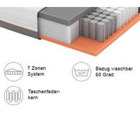 GEL-TASCHENFEDERKERNMATRATZE Primus 290 TFK 90/200 cm 24 cm - Weiß, Basics, Textil (90/200cm) - Schlaraffia