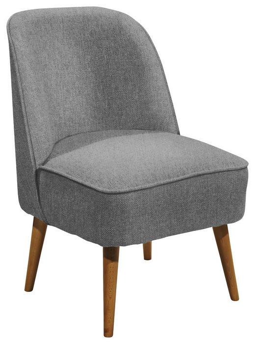 SESSEL in Textil, Holzwerkstoff Grau - Kieferfarben/Grau, Trend, Holzwerkstoff/Textil (54/83/66cm) - Carryhome