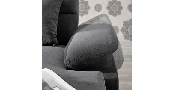 WOHNLANDSCHAFT inkl.Funktionen Anthrazit Webstoff  - Dunkelbraun/Anthrazit, KONVENTIONELL, Kunststoff/Textil (183/319/166cm) - Cantus