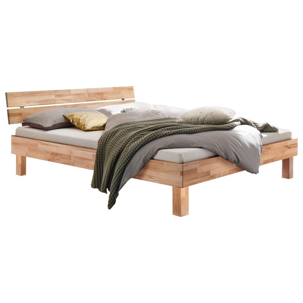 Hasena Bett , Kernbuche , Holz , Kernbuche , massiv , 100x200 cm , in verschiedenen Holzarten erhältlich, Größen erhältlich , Schlafzimmer, Betten, Einzelbetten