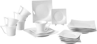 Porzellan  KAFFEESERVICE 18-teilig - Weiß, Basics - NOVEL
