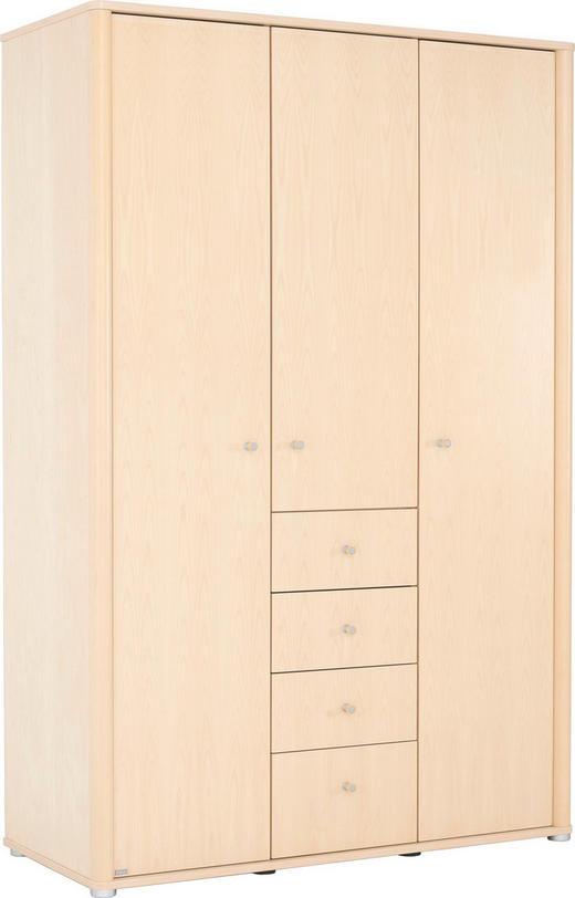 KLEIDERSCHRANK in furniert Birke Birkefarben - Birkefarben, KONVENTIONELL, Holz/Holzwerkstoff (134.5/204/57.3cm) - Paidi