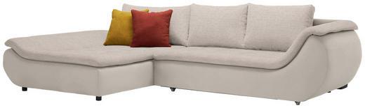 WOHNLANDSCHAFT in Textil Naturfarben, Taupe - Taupe/Schwarz, Design, Kunststoff/Textil (185/310/cm) - Carryhome