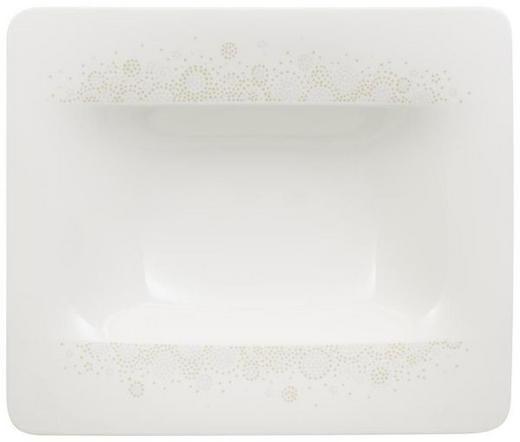 SUPPENTELLER Porzellan - Hellgrau/Weiß, Design, Keramik (24/24cm) - Villeroy & Boch