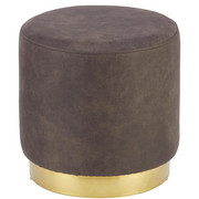 HOCKER in Metall, Textil, Holzwerkstoff Goldfarben, Greige  - Greige/Goldfarben, LIFESTYLE, Holzwerkstoff/Textil (40/39cm) - Xora