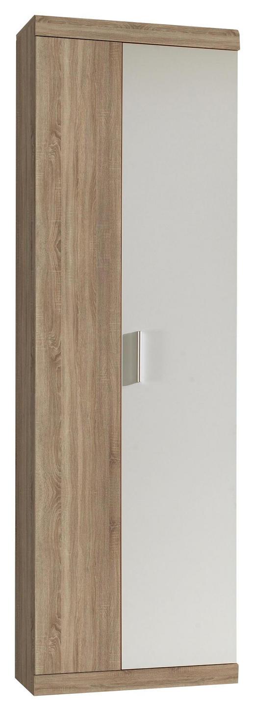 GARDEROBENSCHRANK Sonoma Eiche, Weiß - Alufarben/Weiß, Basics, Holzwerkstoff (60/196/36cm) - Carryhome