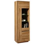 VITRÍNA, barvy dubu - barvy dubu/barvy chromu, Design, kov/kompozitní dřevo (67/205/38cm) - Hom`in