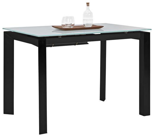 ESSTISCH in Glas, Metall 130(190)/85/77 cm - Schwarz/Grau, Design, Glas/Metall (130(190)/85/77cm) - Dieter Knoll