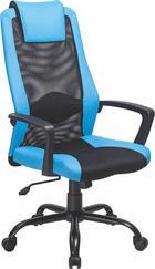 VRTLJIVI STOL kovina, tekstil, umetna masa črna, modra - modra/črna, Design, kovina/umetna masa (65,5/111-118,5/62cm) - Xora