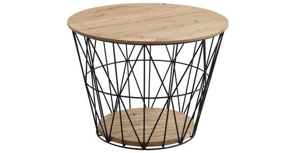 COUCHTISCH in Holz, Metall  62/46 cm - Eichefarben/Anthrazit, Design, Holz/Metall (62/46cm) - Valnatura