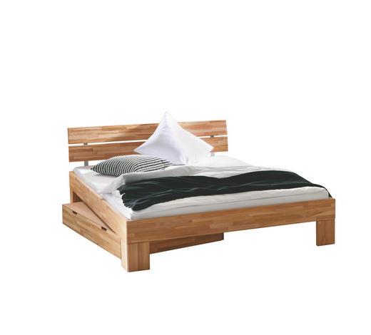 Bett 180 200 Cm In Buchefarben