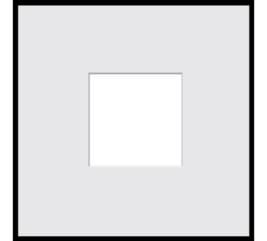 BILDERRAHMEN in Schwarz  - Schwarz, Basics, Glas/Kunststoff (41/41/1.8cm)