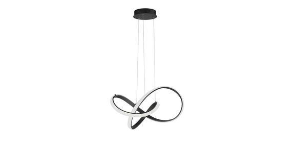 LED-HÄNGELEUCHTE 55/27 cm  - Schwarz, Design, Metall (55/27cm) - Ambiente