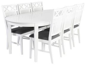 MATGRUPP - vit/svart, Lifestyle, trä/träbaserade material (160/200/75/95cm)