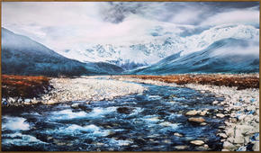 KONSTTRYCK - multicolor/ekfärgad, Natur, trä/textil (120/70cm) - Monee