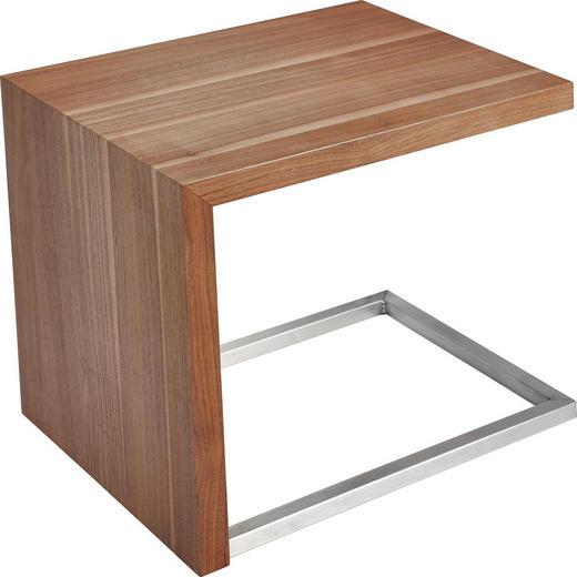 BEISTELLTISCH rechteckig Nussbaumfarben - Nussbaumfarben, Design, Metall (45/51/55cm) - Koinor