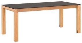 ESSTISCH in Holz, Kunststoff 180(280)/90/76 cm - Eichefarben/Graphitfarben, Design, Holz/Kunststoff (180(280)/90/76cm) - Dieter Knoll
