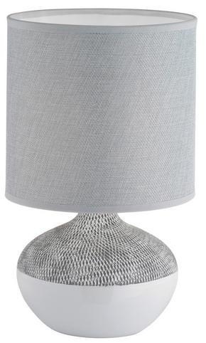 BORDSLAMPA - vit/grå, Lifestyle, textil/keramik (32cm)