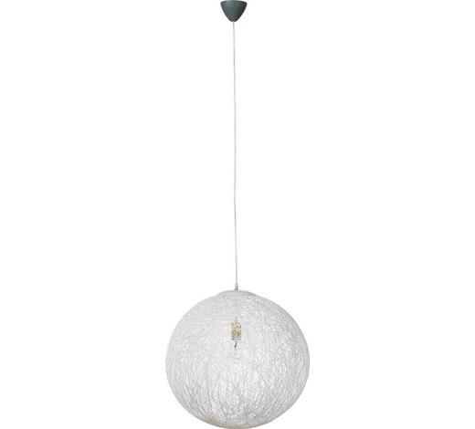 HÄNGELEUCHTE - Chromfarben/Weiß, KONVENTIONELL, Kunststoff/Weitere Naturmaterialien (50cm)
