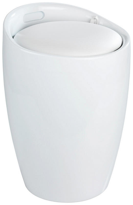 WÄSCHETONNE - Weiß, Basics, Kunststoff (36/50,5cm)