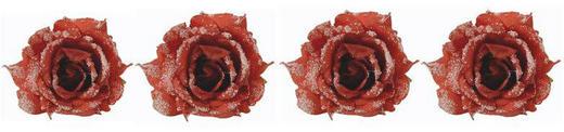 Dekoclip-Set 4-tlg. - Rot, Kunststoff/Metall (10,5/7cm)