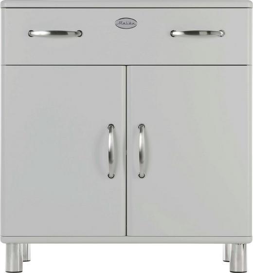 KOMMODE Silberfarben - Silberfarben/Nickelfarben, Design, Holzwerkstoff/Metall (86/92/41cm) - Carryhome
