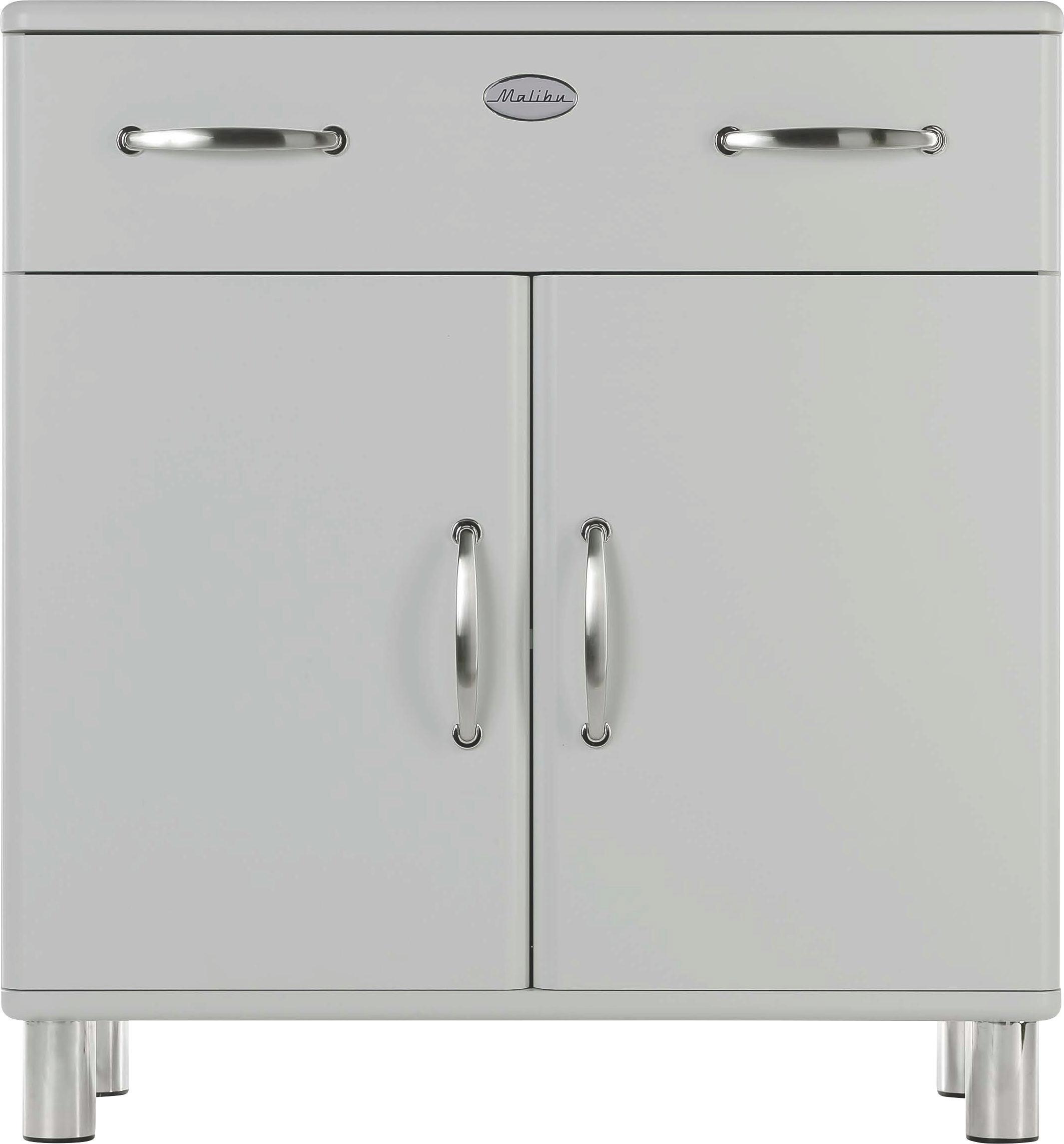KOMMODE Silberfarben - Silberfarben/Nickelfarben, MODERN, Holzwerkstoff/Metall (86/92/41cm) - CARRYHOME