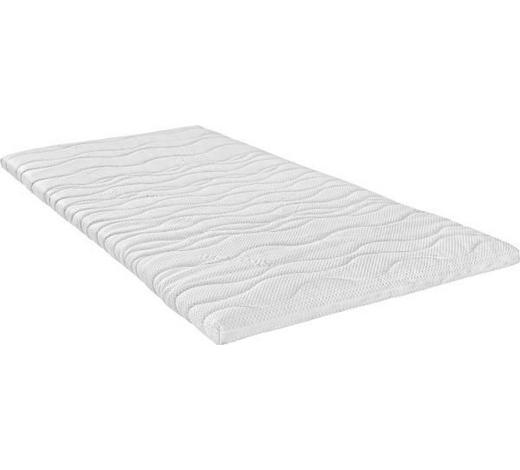 VRCHNÍ MATRACE, 90/200 cm - bílá, Basics, textil (90/200cm) - Sleeptex