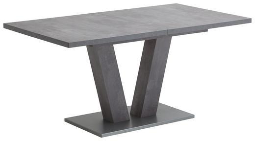 ESSTISCH rechteckig Grau - Edelstahlfarben/Grau, Design (160(200)/90/76cm) - Valdera