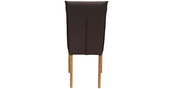 STUHL in Holz, Leder Braun, Eichefarben  - Eichefarben/Braun, KONVENTIONELL, Leder/Holz (45/101/61cm) - Venda