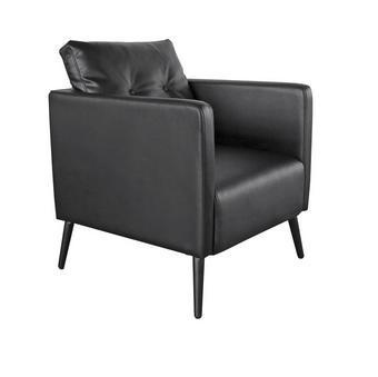KŘESLO - černá, Design, kov/textil (70/73/89cm)