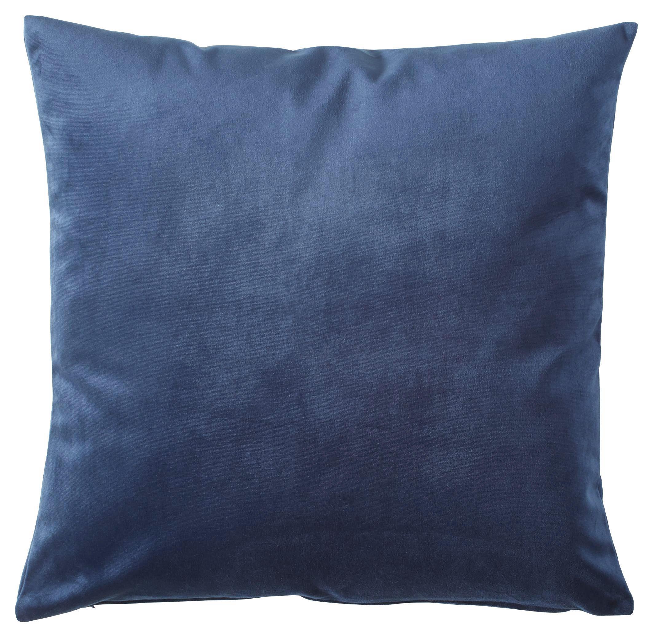 ZIERKISSEN 50/50 cm - Dunkelblau, Basics, Textil (50/50cm) - NOVEL