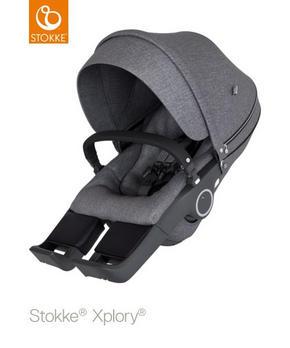 stokke xplory v6 sittdel - mörkgrå, Basics, textil - Stokke