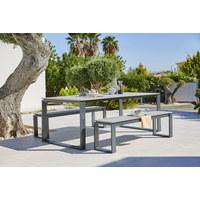ZAHRADNÍ STŮL - šedá/antracitová, Design, kov/umělá hmota (210/100/74cm) - Ambia Garden