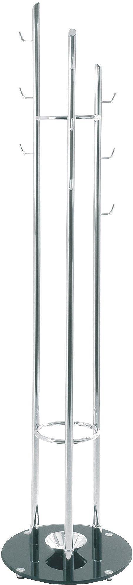 KLEIDERSTÄNDER - Chromfarben/Schwarz, Design, Glas/Metall (40/183cm)