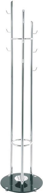 SAMOSTOJEČ OBEŠALNIK - črna/krom, Basics, kovina/steklo (40/183cm) - Xora