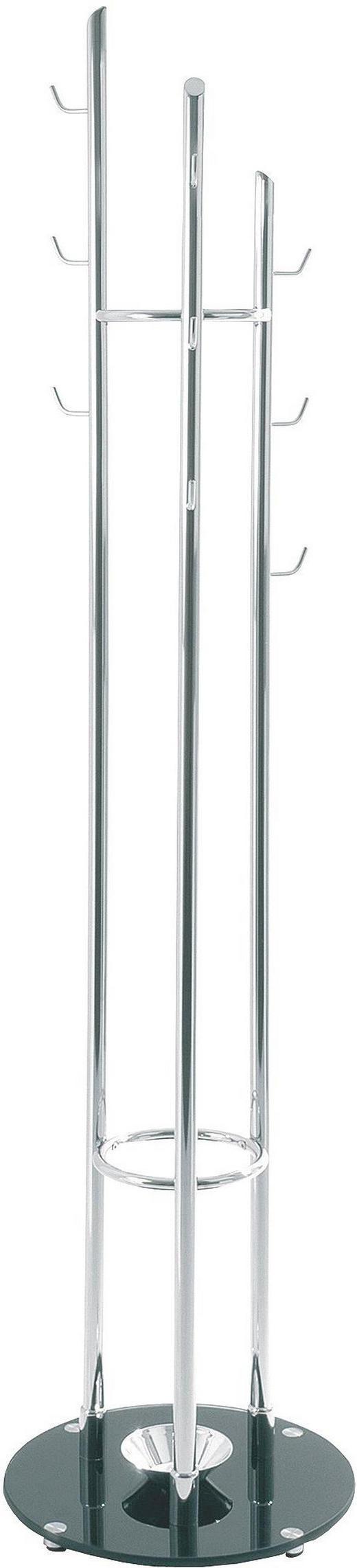 ŠATNÍ STOJAN - černá/barvy chromu, Design, kov/sklo (40/183cm)
