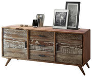 SIDEBOARD Akazie massiv lackiert Multicolor - Silberfarben/Multicolor, LIFESTYLE, Holz/Metall (175/77/45cm) - Hom`in