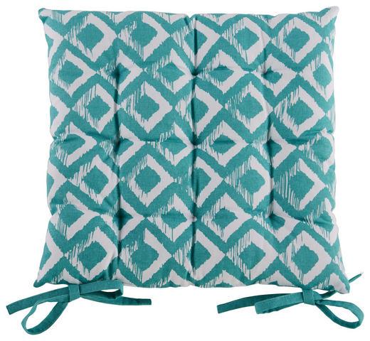 STUHLKISSEN Türkis 40/40 cm - Türkis, Design, Textil (40/40cm) - Esposa