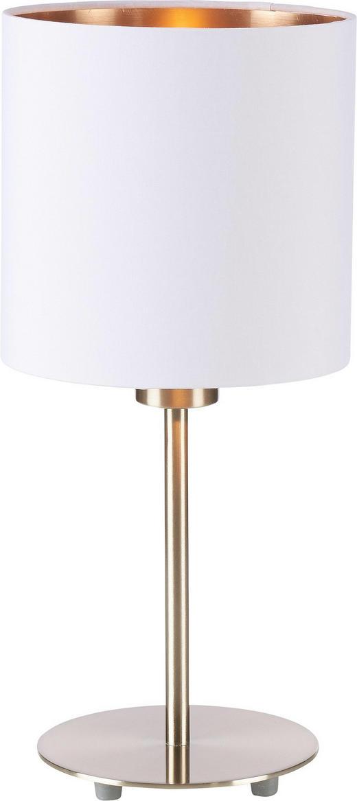 LAMPA STOLNÍ - bílá/měděné barvy, Lifestyle, kov/textil (18/40cm) - NOVEL